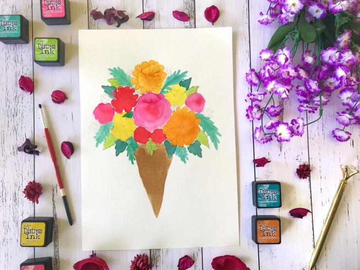 Progress Watercolor Florals Bouquet