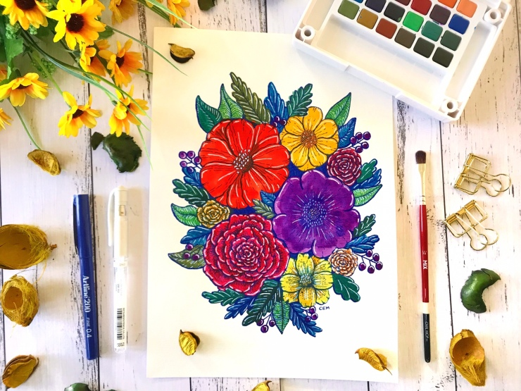 Watercolour Ink Florals