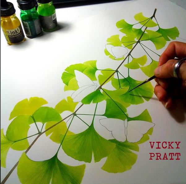 Ginkgo leaves by Vicky Pratt